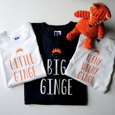Personalised Father, Son And Baby Ginger T Shirts - clothing