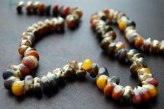 August ~ Corn & Husk ~ Harvest Necklace ~ Tutorial