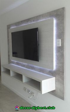 64 BEST TV WALL DESIGNS AND IDEAS - Page 46 of 64 The TV background wall mainly refers to the main wall in the living room and bedroom that reflects the decoration style. The position of the… Tv Wand Design, Tv Wall Cabinets, Wall Mount Tv Cabinet, Tv Wall Mount, Tv Cabinet Ikea, Large Tv Cabinet, Built In Tv Cabinet, Storage Cabinets, Kitchen Cabinets