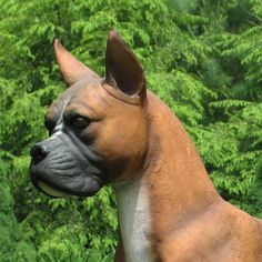 This Handsome Boxer Statue Doubles As A Loyal Friend And A Fierce Guard Dog  That Watches Over Your Property.