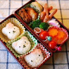 love japanese bentos! my mom made me these growing up - japanese moms are beyond creative when it comes to food preparation!!!
