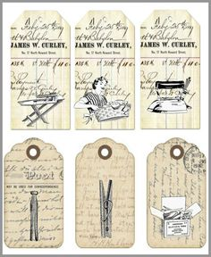 étiquettes lingerie AC Images Vintage, Vintage Tags, Vintage Labels, Vintage Paper, Etiquette Vintage, Vintage Housewife, Mini Albums Scrap, Retro Mode, Card Sentiments