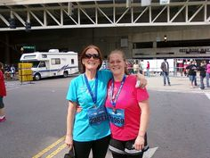 Justine and I AFTER we completed the Flying Pig 5k...our fourth one together!
