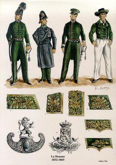 Le Corps de la Douane Les planches uniformologiques de Robert Aubry