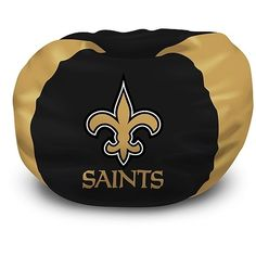 Buy this New Orleans Saints bean bag chair cheap! The best price on the NFL beanbags. NFL love sac chairs are plush seats to watch the game! Each New Orleans Saints beanbag has the team colors and logo on the front. Saints Football, Football Fans, Football Stuff, Nfl Team Colors, Cool Bean Bags, Bean Chair, Man Cave Home Bar, National Football League, New Orleans Saints