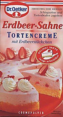Dr. Oetker Erdbeer-Sahne Tortencreme (Strawberry Cream Mix)