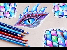 Dragon Eye and Scales Drawing Tutorial! - YouTube