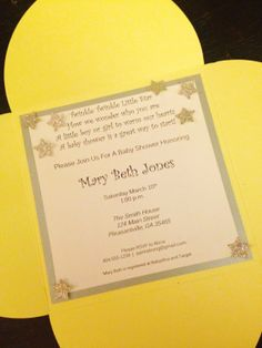 Twinkle Litte Star Invitations on etsy - Southern Rose Designs