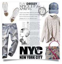 """""""Bez naslova #2687"""" by kristina-biskup ❤ liked on Polyvore featuring Fendi and Converse"""