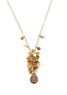 CANDELA COLLECTIONS  Smoky Quartz and Multi-Stone Necklace  $44.99