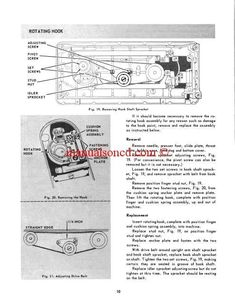 Singer 347 And 348 Sewing Machine Service and Repair Manual.  Here are just a few examples of what's included in this manual:  * Machine Lubrication * Motor Lubrication * Time the Rotating Hook * Setting Feed Dog Height * Setting Needle Bar Height * Timing The Rotating Hook * Checking Needle Position * Setting Thread Clearance * Winding Mechanism