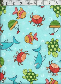 Free US Shipping  FabriQuilt  Under the Sea Cotton by FabricAisle, $10.00