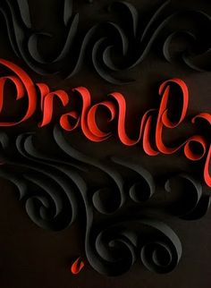 Quilled lettering by Nicole Lahy.
