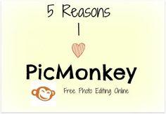 5 Reasons I Love PicMonkey- Free Photo Editing Online | The Tiny Bee BlogThe Tiny Bee Blog