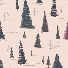 Pinetre Daybreak - Heartland Fabric Collection - Pat Bravo - Art Gallery Fabrics - Fabric by Half Ya Art Gallery Fabrics, Michael Miller, Fabric Art, Fabric Design, Cotton Fabric, Quilting Fabric, Pattern Design, Pine Trees Forest, Snowy Forest