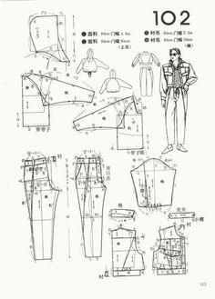 Man Pattern Cutting, Pattern Making, Clothing Patterns, Sewing Patterns, Japanese Sewing, Made Clothing, Ladies Boutique, Pattern Paper, Diy Clothes