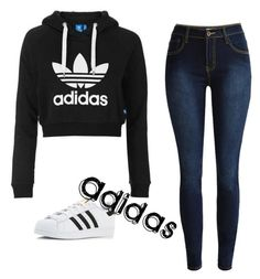 """Untitled #1"" by eliana230 on Polyvore featuring adidas Originals and adidas"
