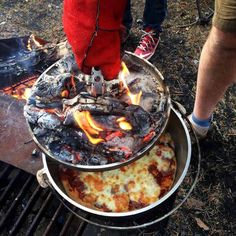 When it comes to dutch oven meals when you're out camping, do you prefer breakfast, lunch or dinner? Dessert too? ;)