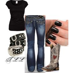 Western Wear by tanalynn69 on Polyvore featuring VILA and Miss Me