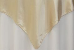 """Square+54""""+Satin+Table+Overlay+-+Champagne/you could use white cloth with champagne overlay cloth"""