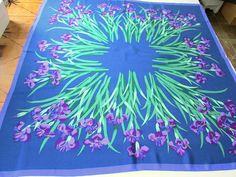 Hey, I found this really awesome Etsy listing at https://www.etsy.com/listing/204743049/vintage-purple-iris-silk-scarf
