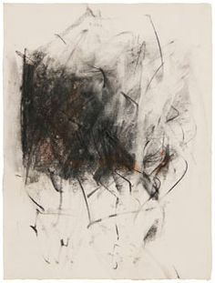 "Joan Mitchell Untitled, c.1964-65, 24 x 18"", 60.96 x 45.72 cm, charcoal and pastel on paper  http://www.pinterest.com/satwagypsy/joan-mitchell/"