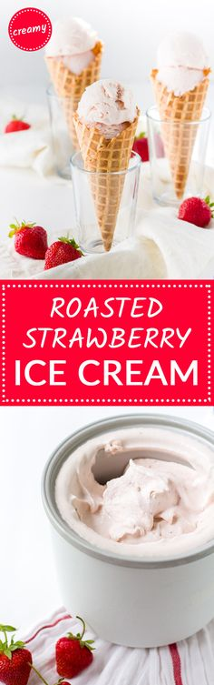 and buttermilk ice cream roasted strawberry and buttermilk ice cream ...