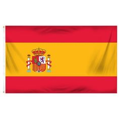 Online Stores Spain Printed Polyester Flag, 3 by 5-Feet by Online Stores. $10.17. Great for indoor and outdoor use. Good quality polyester. Finished with a strong header and brass grommets. This 3ft by 5ft Spain Flag is a printed flag that is made of a good quality polyester. It has been finished with a strong header with brass grommets and it is okay for indoor or outdoor use. At great prices like these you won't want to pass it up.. Save 32% Off!