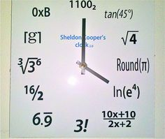 Sheldon Cooper's Clock. $23.00, via Etsy.