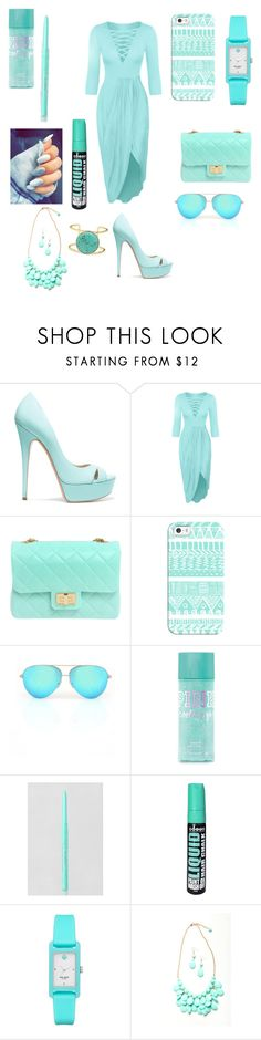 """""""Untitled #1073"""" by bloodrose6 ❤ liked on Polyvore featuring Casadei, WithChic, Design Inverso, Casetify, Victoria Beckham, Stila, Forever 21, Kate Spade and BaubleBar"""