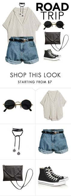 """road trippin"" by aintnoloveydovey ❤ liked on Polyvore featuring MASSCOB, Lamoda, Retrò and Converse"