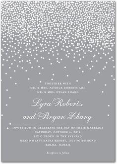 Signature White Wedding Invitations - Diamond Sky by Wedding Paper Divas