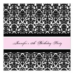 7 18th birthday party invitations and