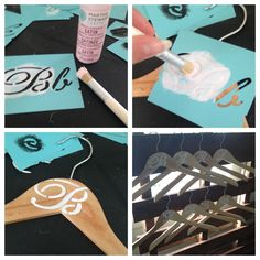 DIY personalized bridesmaid hangers/bridesmaid gifts. #weddingphotography
