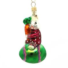 Egg Roll Triplet Easter & Spring Glass Ornament