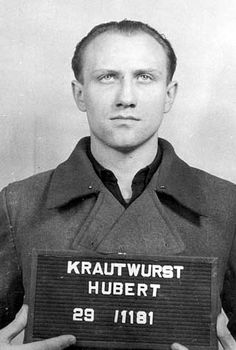 Hubert Krautwurst, who is shown in the photo below, was one of the 22 who were given the death penalty; he had been only seventeen when he became a member of the concentration camp staff of Buchenwald. He was convicted of killing prisoners who were working on a gardening detail.
