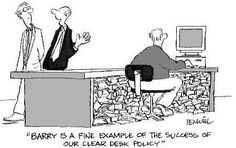 Office Humor clear desk policy - office cubicle humor and pranks Office Humour, Office Jokes, Work Humour, Work Jokes, Cartoon Jokes, Funny Jokes, Funny Sms, 9gag Funny, Cubicle Humor