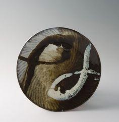 """Tatsuzo Shimaoka, Plate, stoneware, 2 x 10 x 10"""" (with signed wooden box)"""