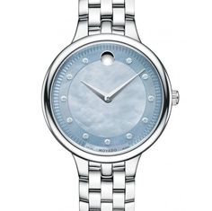 f9ba62b291b Movado Trevi Gray Mother of Pearl Dial Stainless Steel Ladies Watch