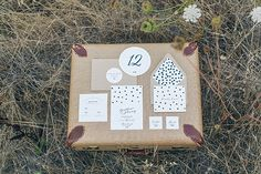 dotted wedding invitations, photo by From SF with Love http://ruffledblog.com/modern-wedding-tribute-to-elvis-and-priscilla-presley #weddinginvitations #stationery
