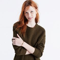 An easy, slouchy sweater in a textural mix of stitches. The oversized pullover you'll want to toss on every weekend (and some weekdays too). <ul><li>Acrylic/merino wool/alpaca/elastane.</li><li>Hand wash.</li><li>Import.</li></ul>