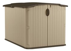 Suncast Glidetop Slide Lid Shed - Outdoor Storage Shed with Walk -In Access for Backyards - Lockable Storage for Bikes, Mowers, and Patio Furniture Suncast Storage Shed, Outdoor Storage Sheds, Shed Storage, Small Storage, Bike Storage, Suncast Sheds, Plastic Storage Sheds, Plastic Sheds, Patio Storage