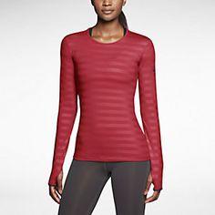Base Layer - Nike Pro Hyperwarm Crew Embossed Women's Training Top
