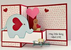 POP UP BOX CARD ELEPHANT by Lori Whitlock Design ID #170317