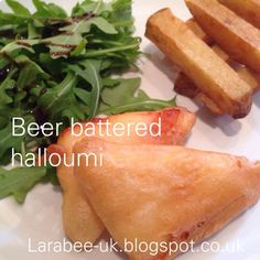 LarabeeUK: |FOOD|beer battered halloumi and chips