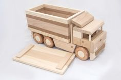 Wooden box truck by DesLineToys on Etsy