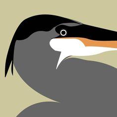 Heron, Illustrations, Bird, Studio, Animals, Animales, Animaux, Herons, Illustration