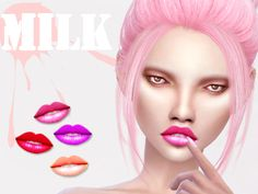 The Sims Resource: M.I.L.K Lips • Sims 4 Downloads