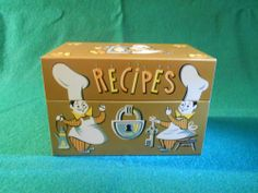 VINTAGE Recipe Tin GOOD used condition copper color #Collectible
