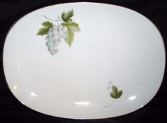 Noritake MARCELLE 619 Small Oval Serving Platter 11 inches RC Backstamp Dinnerware Excellent Condition by libertyhallgirl on Etsy